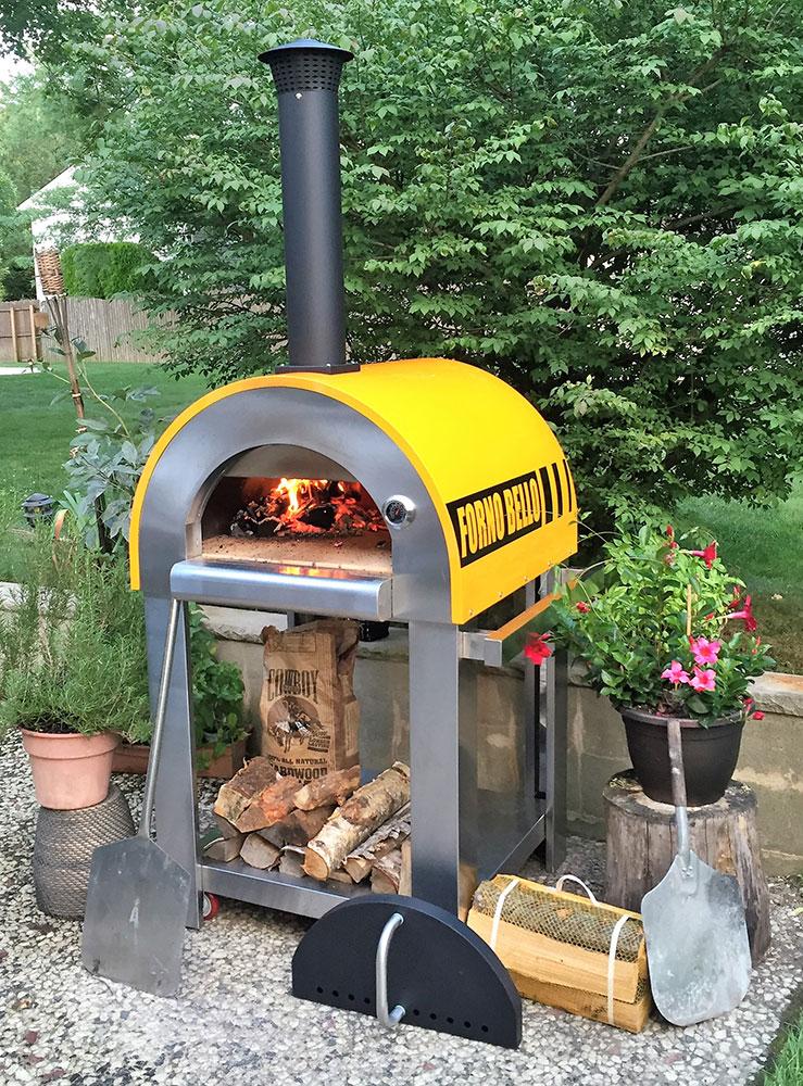 backyard brick oven cooking
