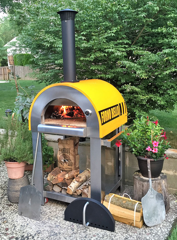 Backyard brick oven cooking